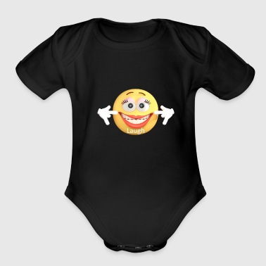 Laugh - Organic Short Sleeve Baby Bodysuit