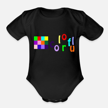 Colorful colorful - Organic Short-Sleeved Baby Bodysuit