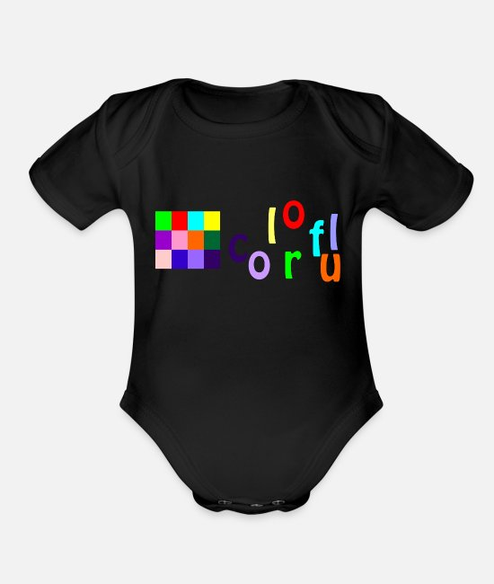Mood Baby One Pieces - colorful - Organic Short-Sleeved Baby Bodysuit black