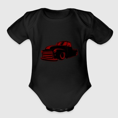Vintage Cars Rat Rod - Organic Short Sleeve Baby Bodysuit
