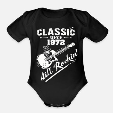 August Classic Since 1972 and still Rokin - Organic Short Sleeve Baby Bodysuit