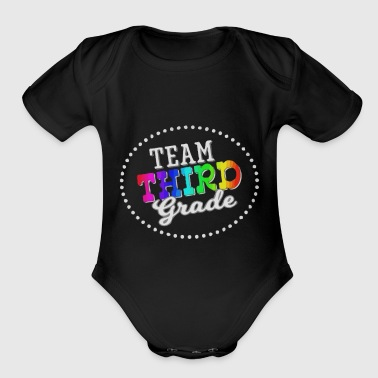 Team Third Grade - Organic Short Sleeve Baby Bodysuit