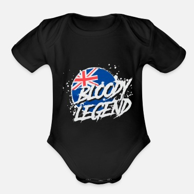 Legend Bloody Legends Australia - Organic Short-Sleeved Baby Bodysuit