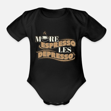 Coffee Sayings Coffee Saying - Organic Short-Sleeved Baby Bodysuit