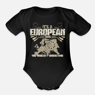 Eu Europe EU Gift Idea - Organic Short-Sleeved Baby Bodysuit