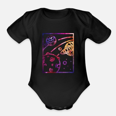 Outer Space Galaxy Galaxy Outer Space - Organic Short-Sleeved Baby Bodysuit