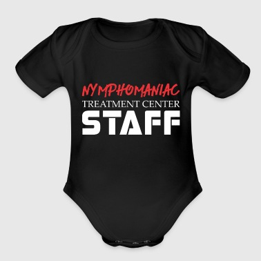 Staff Bull Nymphomaniac Treatment Center Staff - Organic Short Sleeve Baby Bodysuit
