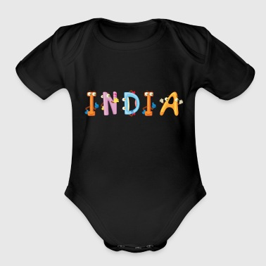India India - Organic Short Sleeve Baby Bodysuit
