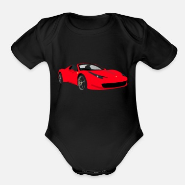 Race Car Race car - Organic Short-Sleeved Baby Bodysuit