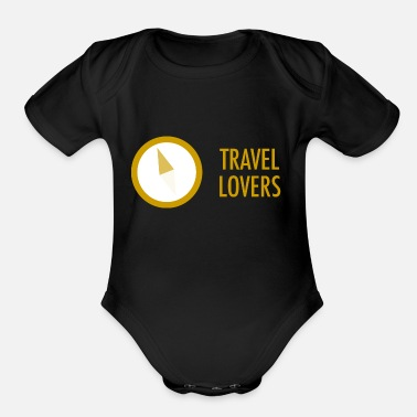Travel TRAVEL LOVERS - Organic Short Sleeve Baby Bodysuit