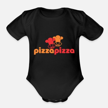 Pizza Pizza Pizza - Organic Short-Sleeved Baby Bodysuit