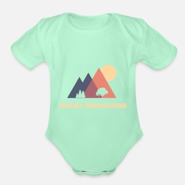 Mountains rocky mountains - Organic Short-Sleeved Baby Bodysuit