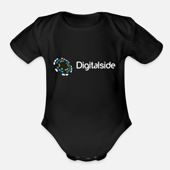 Digital Baby Clothing - Digital Side - Organic Short-Sleeved Baby Bodysuit black