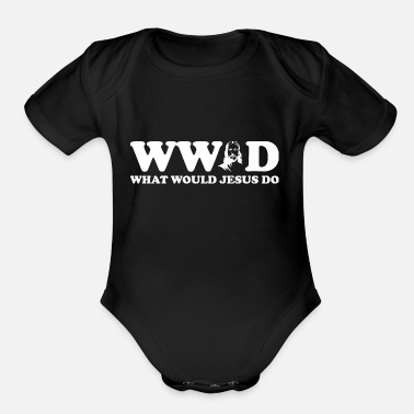 What WWJD What Would Jesus Do - Organic Short-Sleeved Baby Bodysuit