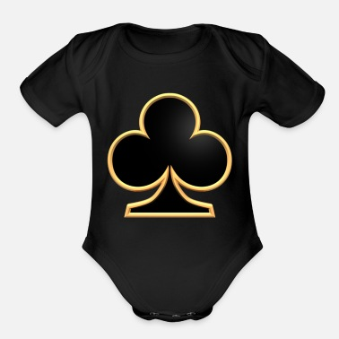 Luck luck - Organic Short Sleeve Baby Bodysuit