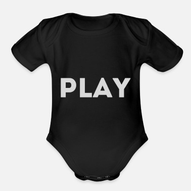 Gambling gamble - Organic Short-Sleeved Baby Bodysuit