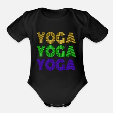 Yoga Relaxation Chill Relax Sport Hobby - Organic Short-Sleeved Baby Bodysuit