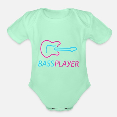 Bass Player Guitar bass player - Organic Short-Sleeved Baby Bodysuit