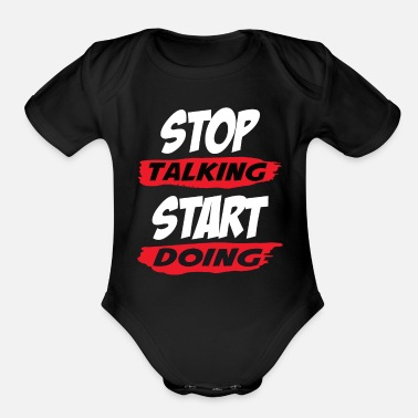 Motivation Books Motivational Saying - Organic Short-Sleeved Baby Bodysuit