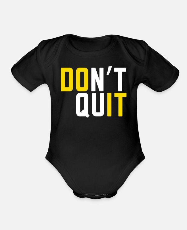 Motivation Baby One Pieces - Motivation Motivational Sayings Motivation Sport - Organic Short-Sleeved Baby Bodysuit black