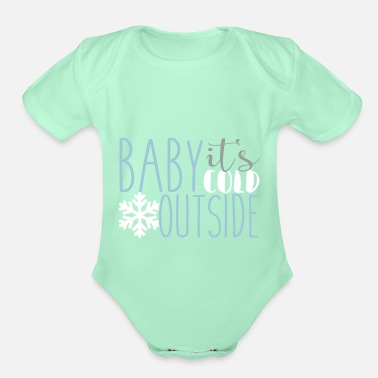 Cold cold - Organic Short-Sleeved Baby Bodysuit