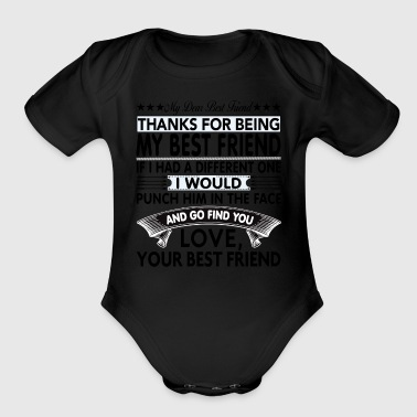 Dear Best Friend... - Organic Short Sleeve Baby Bodysuit