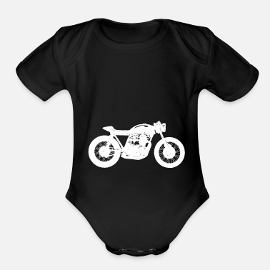 Cafe Racer - white - Organic Short-Sleeved Baby Bodysuit