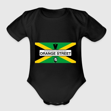 Orange Street JA - Organic Short Sleeve Baby Bodysuit