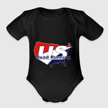 Road Running US Road Running Logo - Organic Short Sleeve Baby Bodysuit