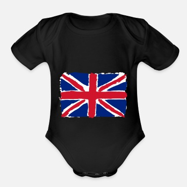 Uk flag of uk - Organic Short Sleeve Baby Bodysuit