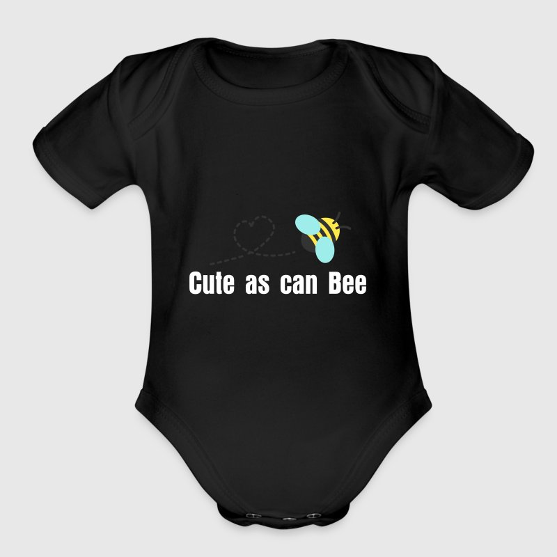 cute bumble bee buzz - Organic Short Sleeve Baby Bodysuit