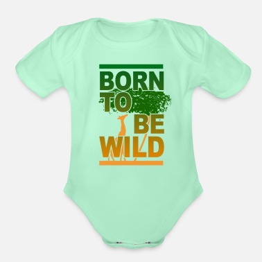 Safari Safari - Organic Short-Sleeved Baby Bodysuit