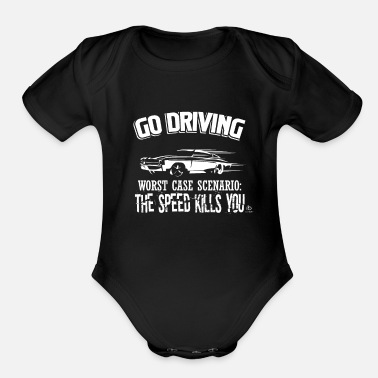 Drive Go By Car Go driving gift - Organic Short Sleeve Baby Bodysuit