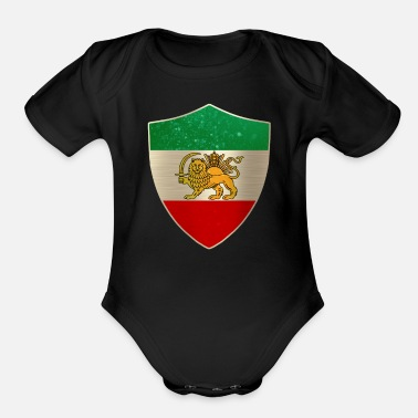 A Persian Guard Persia Flag Shield - Organic Short-Sleeved Baby Bodysuit