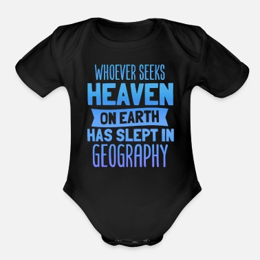 Geography Funny Geography - Organic Short Sleeve Baby Bodysuit
