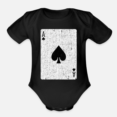 Ace Of Spades ace of spades playing card - Organic Short-Sleeved Baby Bodysuit