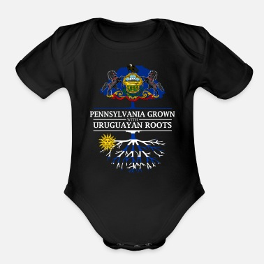 Pennsylvania Grown with Uruguayan Roots - Organic Short Sleeve Baby Bodysuit