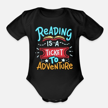 Read Reading Read - Organic Short-Sleeved Baby Bodysuit