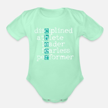 Cheers Cheer Cheering Cheerleader - Organic Short-Sleeved Baby Bodysuit