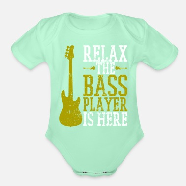 Bass Player Bass Guitar Player - Organic Short-Sleeved Baby Bodysuit