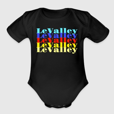 LeValley Multiple Primary - Organic Short Sleeve Baby Bodysuit