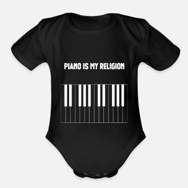 Komponist Piano is my Religion - Organic Short-Sleeved Baby Bodysuit
