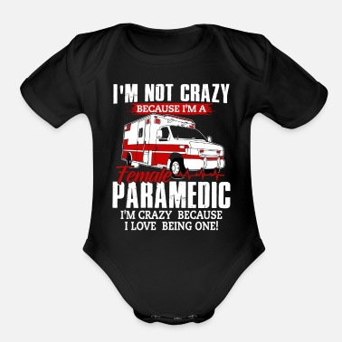 Rescue Services Paramedic Shirt - Rescue Service - Crazy - Organic Short-Sleeved Baby Bodysuit
