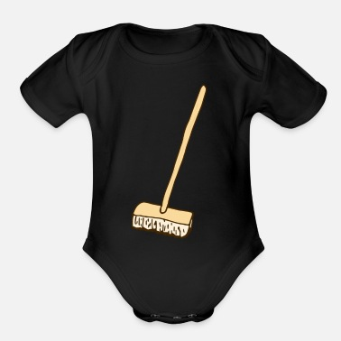 Broom broom - Organic Short-Sleeved Baby Bodysuit