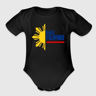 Roots Half Filipino - Filipino Shirts - Organic Short Sleeve Baby Bodysuit