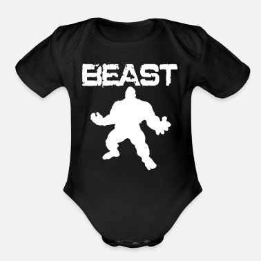 Funny Crossfit The Hulk Fitness Crossfit Bodybuilding Beast 2018 - Organic Short-Sleeved Baby Bodysuit