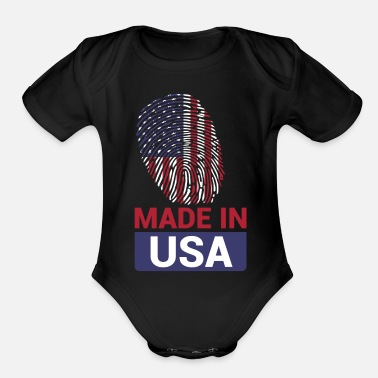 Usa Made in Usa - Organic Short-Sleeved Baby Bodysuit