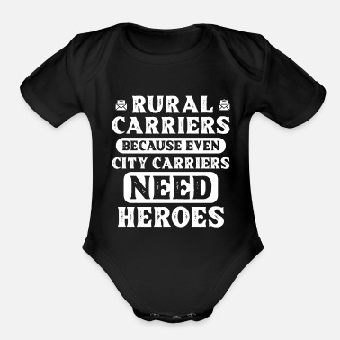 Rural Rural Carriers - Organic Short-Sleeved Baby Bodysuit