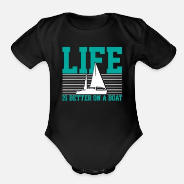 Sailboats sailboat - Organic Short-Sleeved Baby Bodysuit