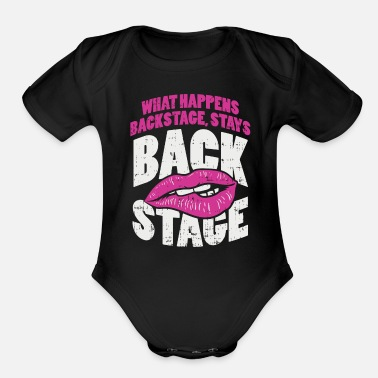Groupie Backstage Lips Groupie Gift - Organic Short-Sleeved Baby Bodysuit